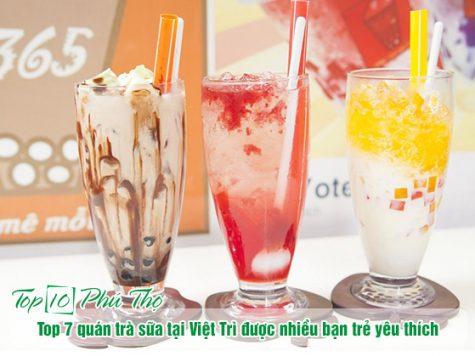 Top 7 quán trà sữa tại Việt Trì được nhiều bạn trẻ yêu thích