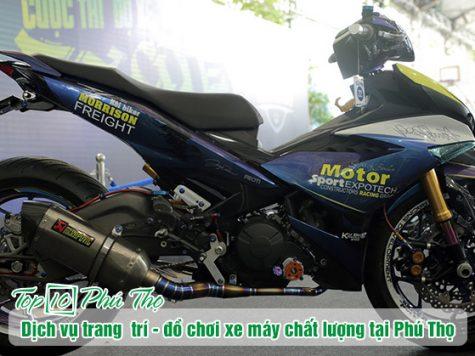 Dịch vụ trang trí và đồ chơi xe máy chất lượng tại Việt Trì - Phú Thọ