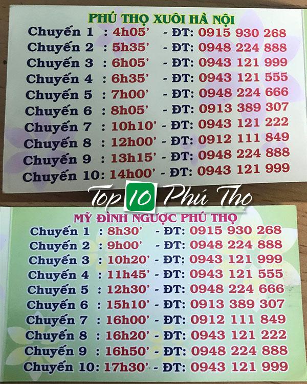 Số điện thoại xe khách Thủy Chính